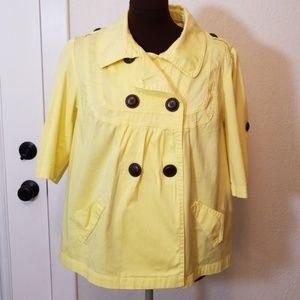 NWOT American Rag Bright Yellow 3/4 Sleeve Jacket